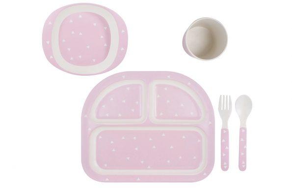 Kindsgut-etkeszlet-pink-haromszogek